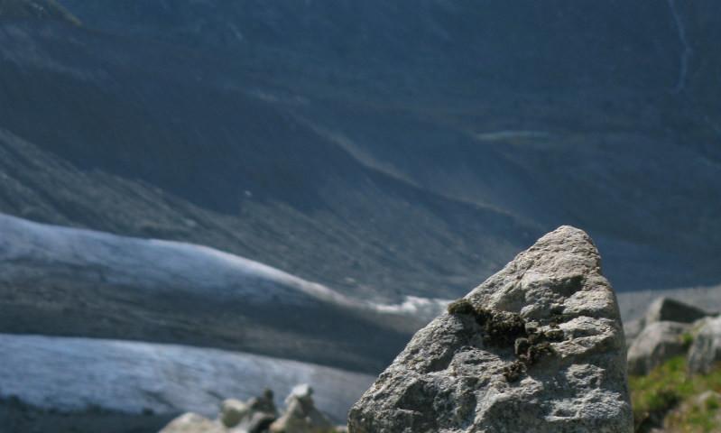 Steinmandl als Wegweiser