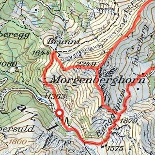 Tour Morgenberghorn, Karte: Bundesamt für Landestopografie swisstopo