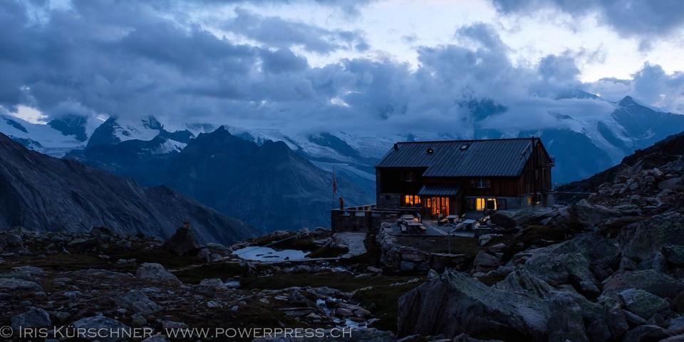 Die Almageller Hütte ist Ziel der ersten Etappe. Foto: Iris Kürschner
