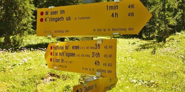 #missingtype - erst wenn's fehlt, fällt's auf! - Wo geht's lang? Könnt ihr noch lesen, zu welchen Hütten die Wege führen?