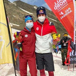 Antonia Niedermaier holt Gold und Anton Palzer Silber beim Vertical Rennen der WM in Andorra