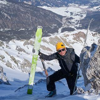 Zuletzt nimmt man besser die Ski in die Hand… Foto: Thilo Brunner