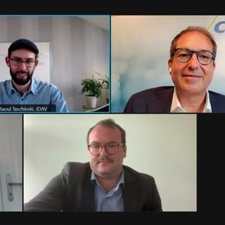 Screenshot des Gesprächs mit Alexander Dobrindt (CSU), Foto: JDAV/Daniel Sautter