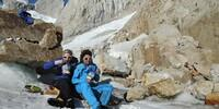 Pause mit Expeditionsnahrung - Foto: Caro North