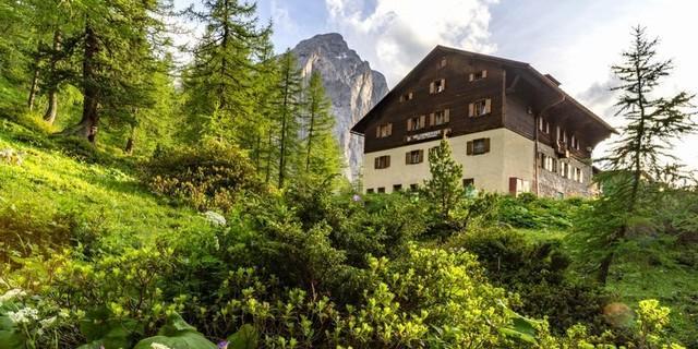 Hallerangerhaus der Sektion Schwaben im Karwendel, Foto: Stefan Wolf