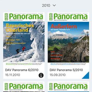 Ab jetzt zehn Jahre DAV Panorama online lesen in der App