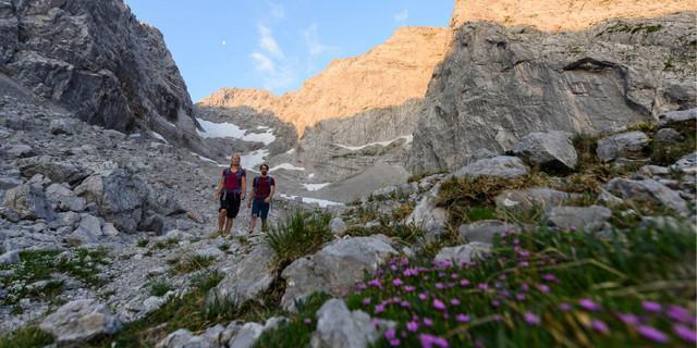 Bergsteigen im Blaueiskar (Foto: Wolfgang Ehn)
