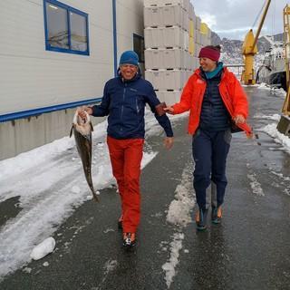 Immerhin gibts frischen Fisch direkt vom Boot! Foto: Raphaela Haug