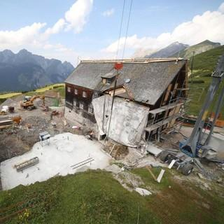 Die Bauarbeiten können live über die Webcam verfolgt werden.