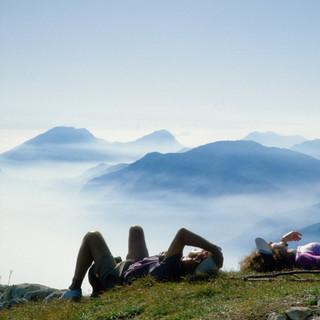Rast am Monte Baldo, Gardaseeberge, Italien