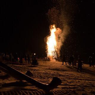 Funkenfeuer im Allgäu. Foto: Nadine Ormo