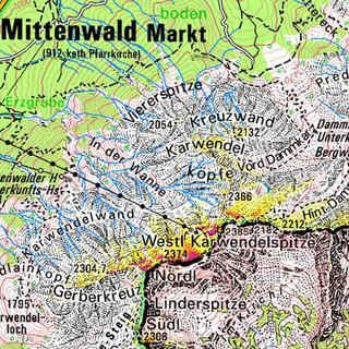 Permafrost im Karwendel bei Mittenwald (Quelle: PermaNet; LfU)