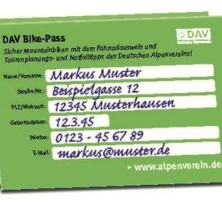 Alle Daten im DAV Bike Pass