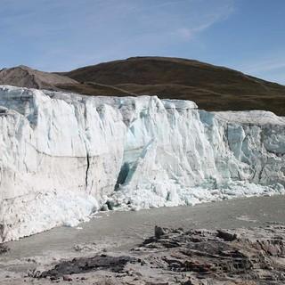 Gletscherabbruch in Grönland 2016, Foto: Britta Zwiehoff
