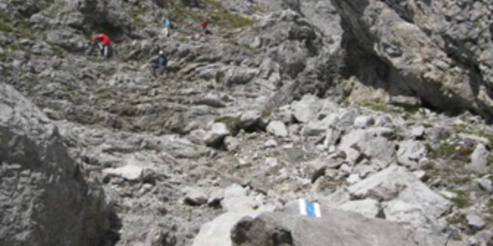 Normalweg am Widderstein, Allgäuer Alpen, Österreich