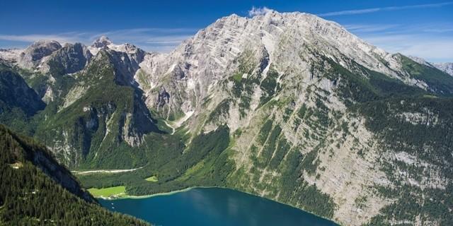 Königssee mit Watzmann Ostwand. © Luftbild Jörg Bodenbender