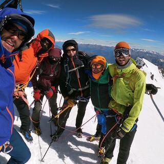Gruppenbild auf dem Gipfel, Foto: Eukeni Soto