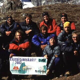 Der erste Expedkader auf der Abschlussexpedition in der Changabang-Region, Pakistan. Foto: DAV