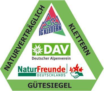 """Gütesiegel """"Naturverträglich Klettern"""" - für Kletterführer"""