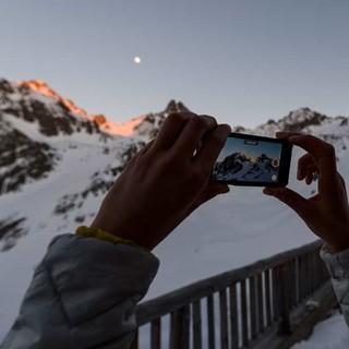 Mond von der Terrasse der Darmstädter Hütte, Foto: Wolfgang Ehn