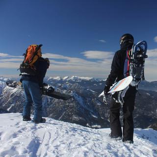 Snowboarder am Schafreuter / Foto M. Pröttel