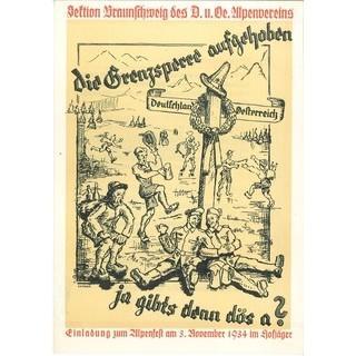 Einladung zum Winterfest der Sektion Braunschweig, 1934. Archiv des DAV, München