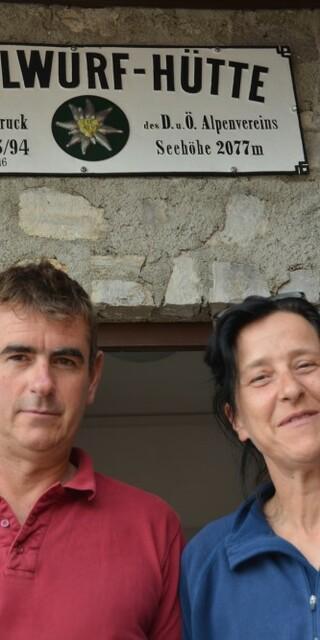 Die Hüttenwirtsleute Christina und Ralf Foto: Team Bettelwurfhütte