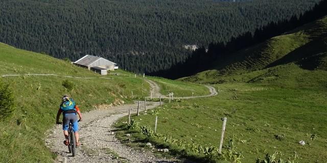 Tag 1: Über Wald- und Wiesenwege geht es am Col de Landron Richtung Plateau des Glières.