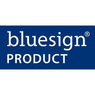 Das bluesign Siegel steht fü die Verringerung von Umwelteinflüsse in der Textilindustrie (Bild: bluesign)