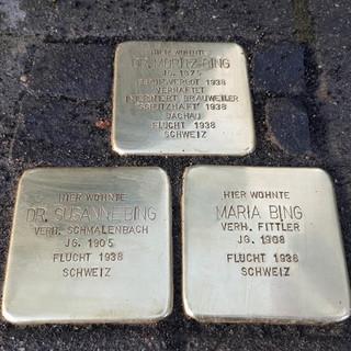 Stolpersteine: eines der vielen Projekte der Sektion Rheinland-Köln, um an ausgegrenzte jüdische Mitglieder zu erinnern, Foto: Karlheinz Kubatschka