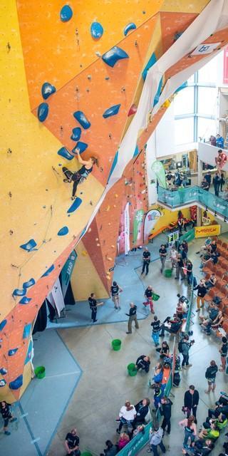 Die Wände bei Deutschen Meisterschaften müssen mindestens 15 Meter hoch sein. Foto: DAV/Thomas Schermer