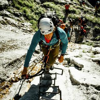 Die Klettersteigskala reicht von A bis F, Foto: DAV/Hans Herbig