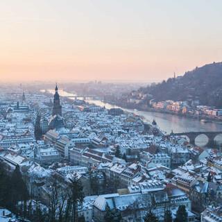 Winterstimmung in der Heidelberger Altstadt. Foto: Udo Filsinger