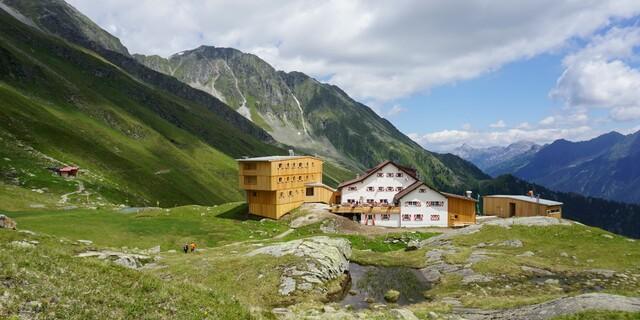 Die Neue Regensburger Hütte in den Stubaier Alpen, Foto: Martina Ofer