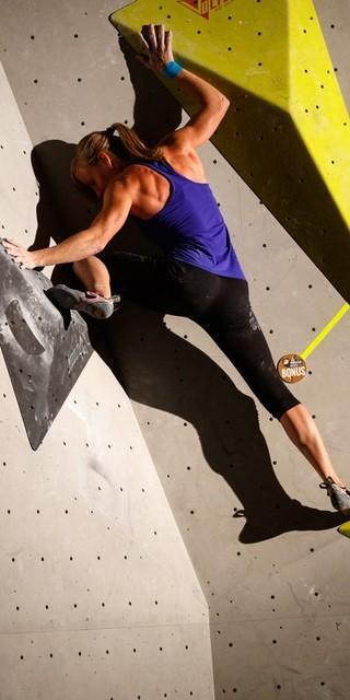 Sportlicher Abschluss: Bouldern im E4