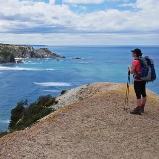 Schöner Aussichtspunkt oberhalb des Praia de Odeceixe, Foto: Jonas Kassner