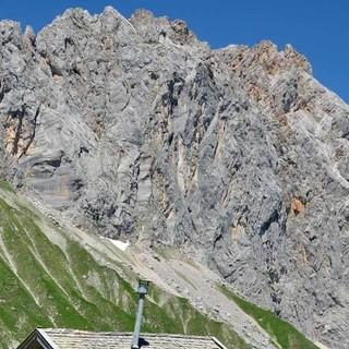 Südwand der Schüsselkarspitze im Wettersteingebirge, Foto: Christian Rauch