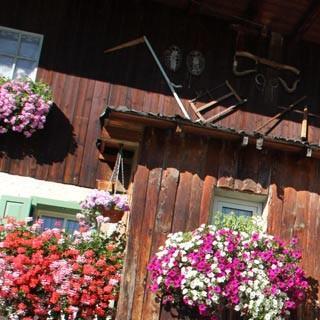 Fassatal-1©Traian Grigorian - Blumengeschmücktes Haus in Canazei im oberen Fassatal.     Foto: Traian Grigorian
