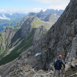 Bergsteiger am Biberkopf, Allgäu, Deutschland