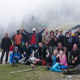 Teamspirit beim Wegesanierungsprojekt im Chiemgau, Foto: DAV-Sektion Prien