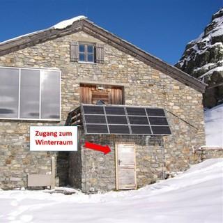 Besonders im Winter gut zu wissen: Zugang zum Winterraum, Foto: Archiv DAV