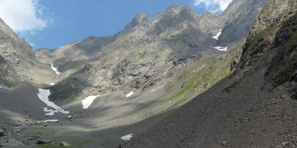 Im Zentrum der Bergamasker Alpen – der Lago Coca mit dem Pizzo di Coca (3050 m), dem höchsten Gipfel der Region. Foto: Joachim Chwaszcza