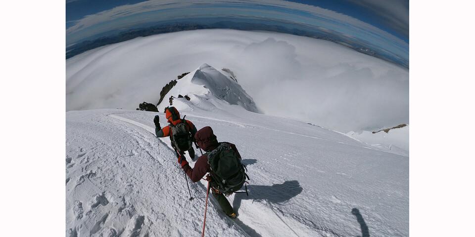 Grandiose Ausblicke beim Abstieg, Foto: Eukeni Soto