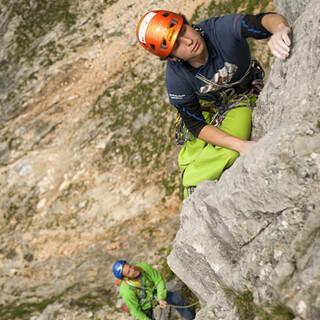 Streichel, nicht reißen: Die unteren Längen am Untersberg-Hinterstoißerpfeiler haben nicht immer Betonfels.