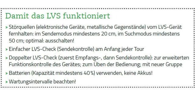 LVS-Geräte Störquellen Gegenmaßnahmen