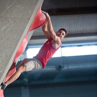 Yannick Flohé nach seinem letzten Boulder. Foto: DAV/Vertical Axis