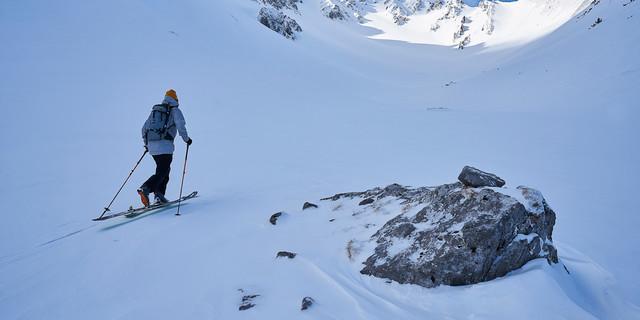 Hochalpin präsentiert sich der nordseitige Anstieg zum Hochwannig… Foto: Thilo Brunner