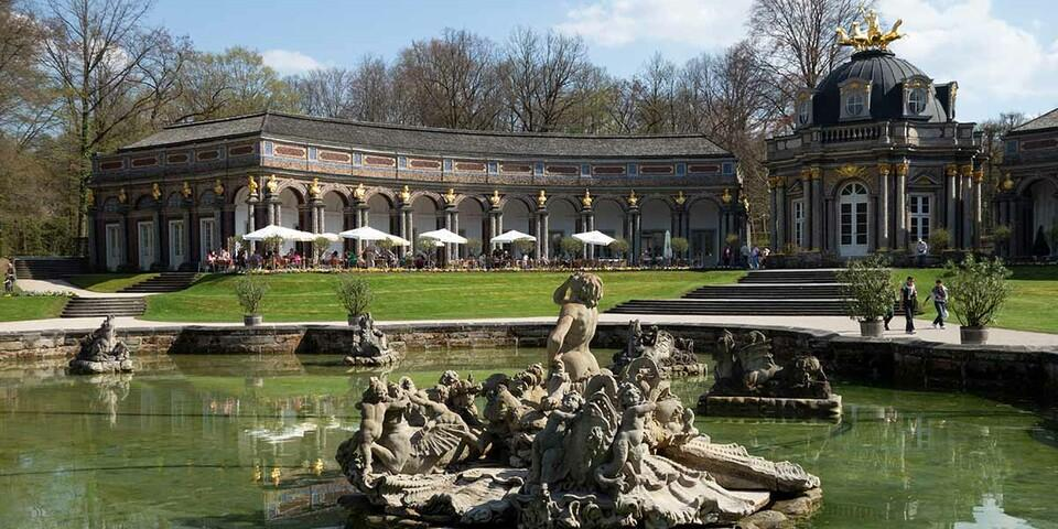 Natur und Kultur im wandernden Wechsel: die Parkanlage Eremitage in Bayreuth. Foto: Christof Herrmann