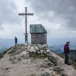 Auf dem Gipfel des Geigelstein, Foto: Axel Klemmer
