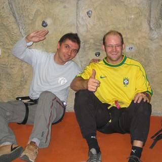 Gemeinsam in der Kletterhalle: JDAV Kampenwand